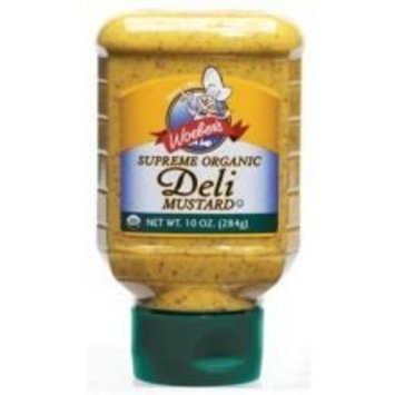 Woeber's Supreme Organic Deli Mustard 10oz (Pack of 6)