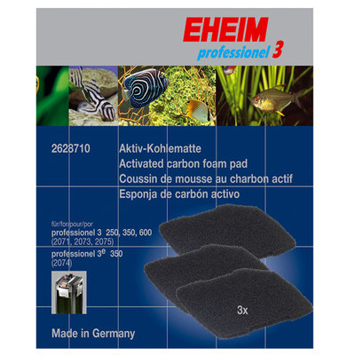 Eheim AEH2628710 Activated Carbon Foam Pad - 3 Pack