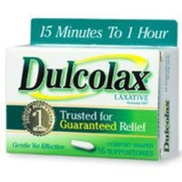Dulcolax Laxative Suppositories, 16 Count