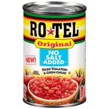 Ro-Tel Original No Salt Added Diced Tomatoes & Green Chilies, 10 oz