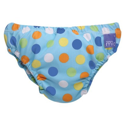 Bambino Mio Swim Nappy - Blue Spot - Medium