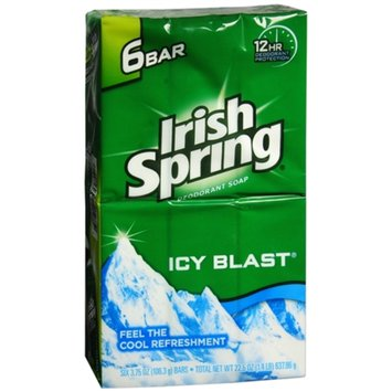 Irish Spring Bar Soap, Icy Blast, 6 ea
