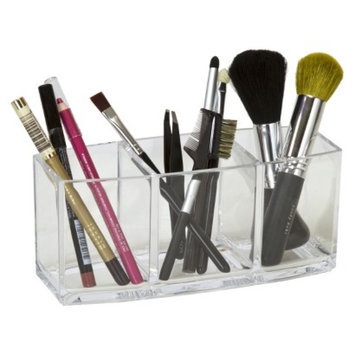 Caboodles 3 Clear Compartment Brush and Pencil Holder