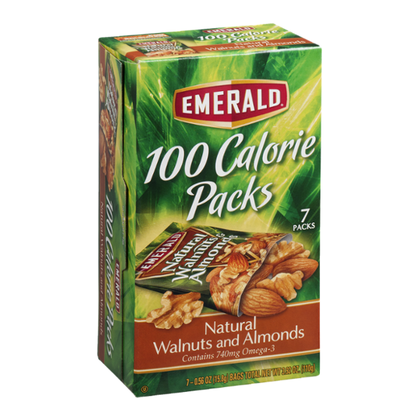 Emerald 100 Calorie Packs Natural Walnuts and Almonds - 7 CT