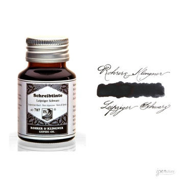 Rohrer & Klingner 50 ml Bottle Fountain Pen Ink, Leipziger Schwarz (Black)