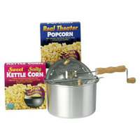 Wabash Valley Farms Whirley-Pop Gift Set - Silvertone Pan