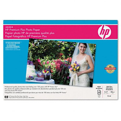 Hewlett Packard CV065A Hp Premium Plus Photo Paper Glossy 11x17 25sh. Hps Highest-quality Paper For