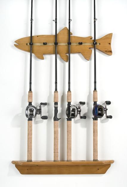 Organized Fishing Fish Wall Rack, 6 Capacity, FWR006