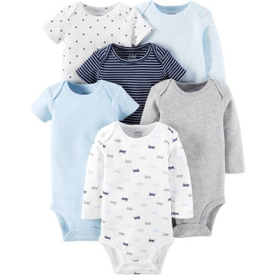 Child Of Mine by Carter's Newborn Baby Boy Bodysuits, 6-Pack