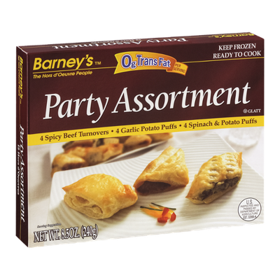 Barney's Party Assortment Hors d'Oeuvres - 12 CT