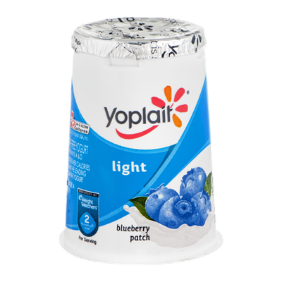 Yoplait Light Fat Free Yogurt Blueberry Patch