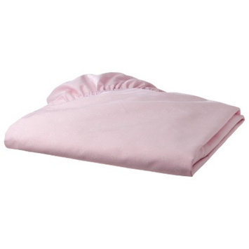 TL Care 100% Cotton Percale Fitted Crib Sheet - Pink Star