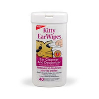 Petkin Kitty Ear Wipes, 40-Count Pack (Pack of 6)