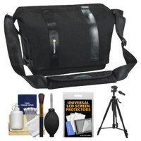 Vanguard Vojo 25 Digital SLR Camera Shoulder Bag (Black) with Tripod + Cleaning Kit