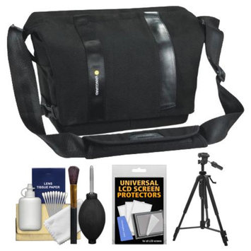 Vanguard Vojo 25 Digital SLR Camera Shoulder Bag (Black) with Tripod + Cleaning Kit