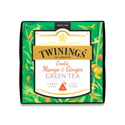 Twinings® Discovery Collection Exotic Mango And Ginger Green Tea-Pyramid Tea Bags
