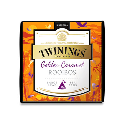 TWININGS™ OF LONDON DISCOVERY COLLECTION Golden Caramel ROOIBOS PYRAMID TEA BAGS