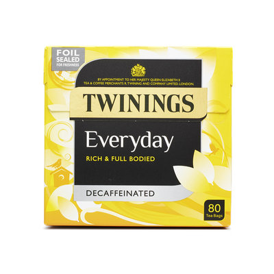 TWININGS Everyday DECAFFEINATED TEA BAGS