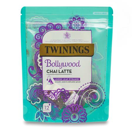 TWININGS Bollywood CHAI LATTE LOOSE LEAF PYRAMID TEA BAGS