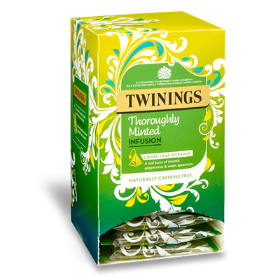 TWININGS Thoroughly Minted INFUSION LOOSE LEAF PYRAMID TEA BAGS