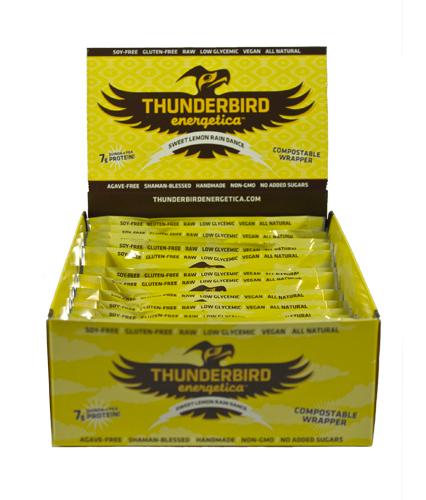 Thunderbird Energetica Bars Sweet Lemon Rain Dance, 15 Pack - Men's