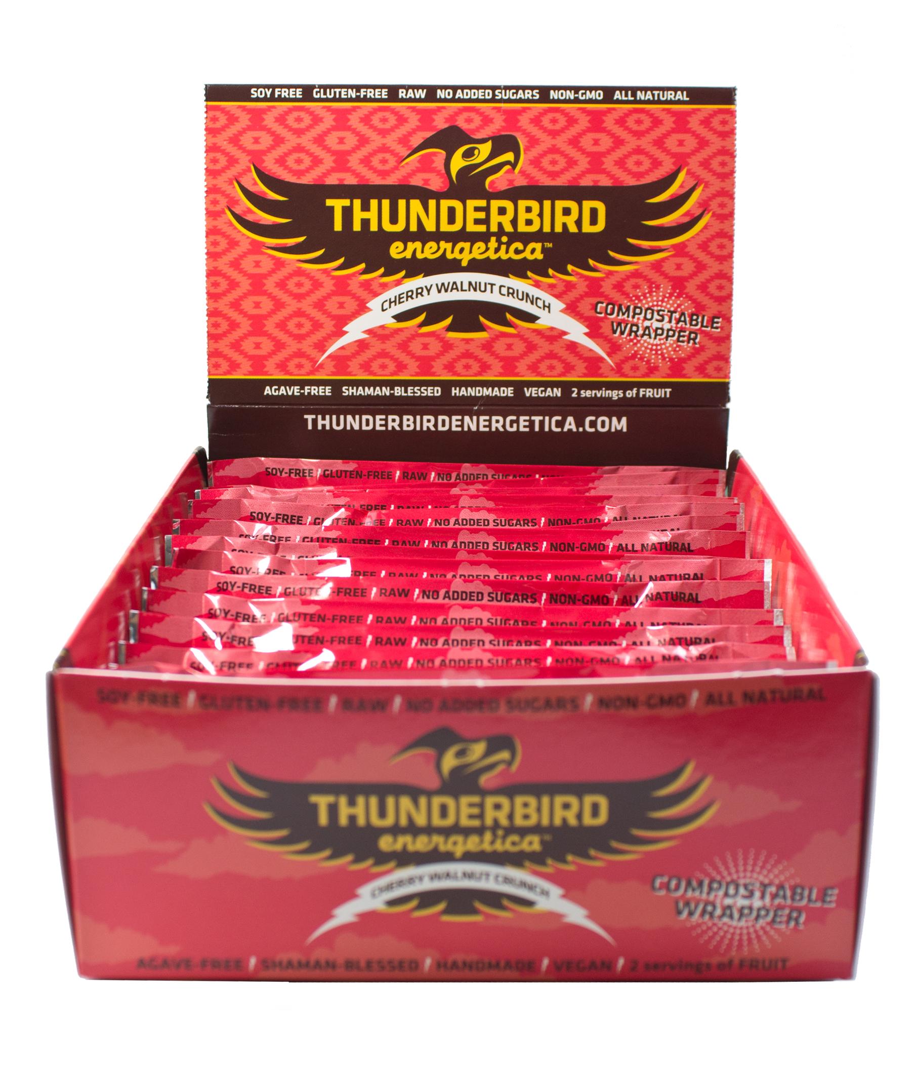 Thunderbird Energetica Bars Cherry Walnut Crunch, 15 Pack - Men's