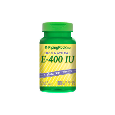 Piping Rock Natural Vitamin E-400 IU 100 Soft Gels
