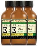 Piping Rock 100% Natural Vitamin E Oil 45,000 IU 3 Bottles x 2 fl oz Liquid