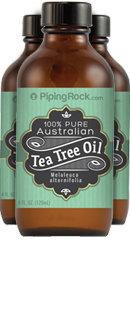 Piping Rock 100% Pure Tea Tree Oil Australian 3 Bottles x 4 oz Liquid
