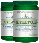 Piping Rock Xylitol 100% Pure Sweetener 2 Bottles x 20 oz (568 grams) Crystals