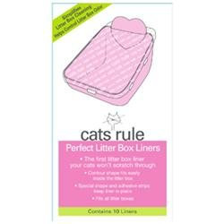 Cats Rule 00585 Perfect Litter Liners - Pack of 10