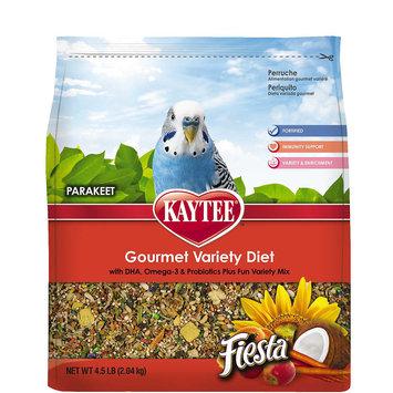 Kaytee Fiesta Fortified Gourmet Bird Food for Parakeets