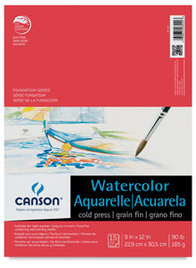 Canson Foundation Watercolor Pad 9 in. x 12 in.