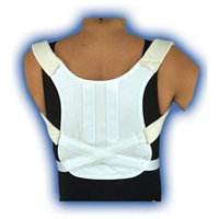 Bell-Horn Posture Control Brace in White