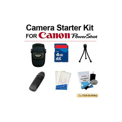 Click Go & Buy 6 PCS POINT AND SHOOT CAMERA STARTER KIT FOR CANON- POWERSHOT- SD & A SERIES - CAMERA BAG, 4GB A