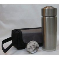 Nano Tech Nano Ionizer Pod Double Top Filter Energy Cup Flask Portable Alkaline Water pH Enhancer with Shoulder Strap (can be registered)