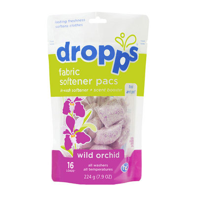 Dropps Scent Booster Pacs with In-Wash Fabric Softener, Wild Orchid