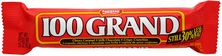 Nestle 100 Grand Candy Bar