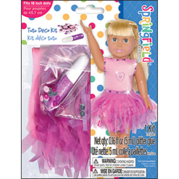 Fibre Craft 355482 Springfield Collection Dress-Up Tutu Outfit-Pink Leo Purple Skirt with Sequins & Glitt