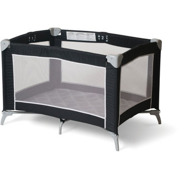Foundations Sleep 'N Store Portable Playard Crib, Graphite Mod Plaid