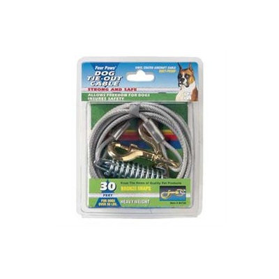 Four Paws Heavy Weight Tie Out Cable - Silver