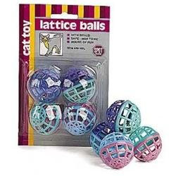 Zanies Lattice Balls with Bell - 4 pk. 4 pack