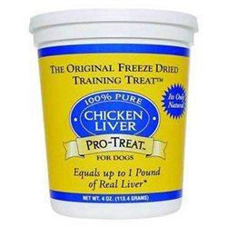 Gimborn DRD401704 Pro-Treat Freeze Dried Chicken Liver 4Oz
