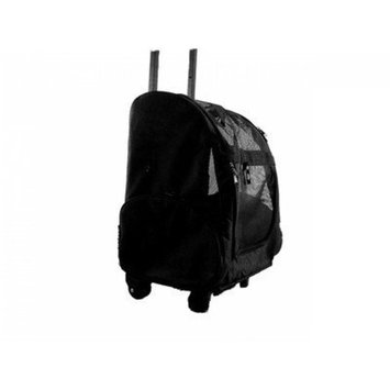 Creative Motion Rolling Pet Backpack, Black