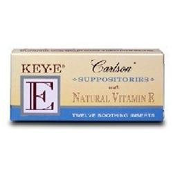 Carlson Labs - Key-E Suppositories With Natural Vitamin E - 12 Inserts