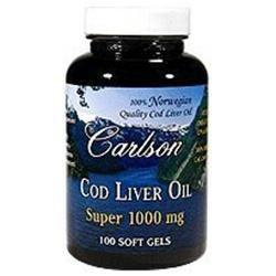 Carlson Labs - Super Cod Liver Oil 1000 mg. - 100 Softgels