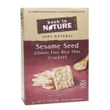 Back to Nature Sesame Seed Gluten Free Crackers, 4 oz