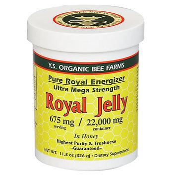 YS Organic Bee Farms - Royal Jelly In Honey Pure Roal Energizer Ultra Mega Strength 22000 mg. - 11.5 oz.