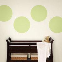 WallPops - Solid Dots 4-Piece Set, Pea Pod Green