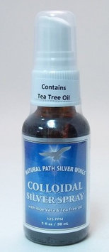 Natural Path Silver Wings - Colloidal Silver Herbal Tincture with Aloe Vera and Tea Tree Oil - 1 oz.